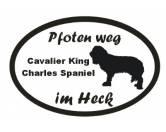 Tiermotiv Tassen3D Tassen HundePfoten Weg - Aufkleber: Cavalier King Charles Spaniel 3