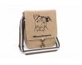 Taschen & RucksäckeCanvas Tasche HunderasseAmerican Staffordshire Terrier 2 -unkupiert- Canvas Schultertasche Tasche mit Hundemotiv und Namen