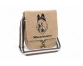 Für TiereHundemotiv - HandtücherBriard Canvas Schultertasche Tasche mit Hundemotiv und Namen
