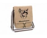 Leben & WohnenTürstopper & ZugluftstopperChinesischer Schopfhund 2 Chinese Crested Canvas Schultertasche Tasche mit Hundemotiv und Namen