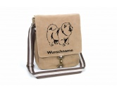 Bekleidung & AccessoiresHundesportwesten mit Hundemotiven inkl. Rückentasche MIL-TEC ®Chow-Chow 2 Canvas Schultertasche Tasche mit Hundemotiv und Namen