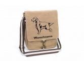 Bekleidung & AccessoiresHundesportwesten mit Hundemotiven inkl. Rückentasche MIL-TEC ®English Setter Canvas Schultertasche Tasche mit Hundemotiv und Namen