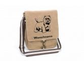 Taschen & RucksäckeCanvas Tasche HunderasseWest Highland White Terrier 3 Canvas Schultertasche Tasche mit Hundemotiv und Namen