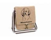 Schmuck & AccessoiresHunderassen Schmuck AnhängerPudel 1 Canvas Schultertasche Tasche mit Hundemotiv und Namen