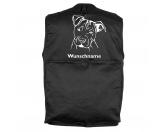 Bekleidung & AccessoiresHundesportwesten mit Hundemotiven inkl. Rückentasche MIL-TEC ®American Staffordshire Terrier 2 - Hundesportweste mit Rückentasche MIL-TEC ®
