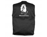 Bekleidung & AccessoiresHundesportwesten mit Hundemotiven inkl. Rückentasche MIL-TEC ®Basset Hound 3 - Hundesportweste mit Rückentasche MIL-TEC ®