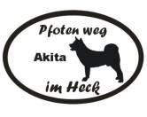 Aufkleber & TafelnAufkleber - On-LeinPfoten Weg - Aufkleber: Akita 2