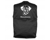 Für MenschenHunde Motiv Handtuch -watercolour-Dalmatiner 2 - Hundesportweste mit Rückentasche MIL-TEC ®
