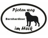 Schmuck & AccessoiresVergoldete AnhängerPfoten Weg - Aufkleber: Bernhardiner 2