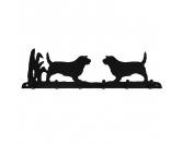 Fußmatten & LäuferFußmatten HunderasseBorder Collie stehend Leinengarderobe 2 - Schlüsselbrett 6 Haken