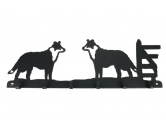 Bekleidung & AccessoiresSchals für TierfreundeBorder Collie stehend Leinengarderobe 2 - Schlüsselbrett 6 Haken