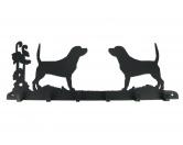 Bekleidung & AccessoiresHundesportwesten mit Hundemotiven inkl. Rückentasche MIL-TEC ®Beagle Leinengarderobe - Schlüsselbrett 6 Haken