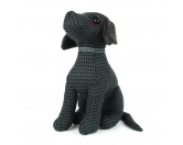 Selbstklebende KreidetafelnHundeBaylee Black Labrador - Türstopper Hund