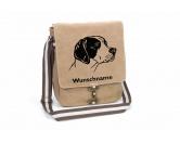 Bekleidung & AccessoiresHundesportwesten mit Hundemotiven inkl. Rückentasche MIL-TEC ®English Pointer 2 Canvas Schultertasche Tasche mit Hundemotiv und Namen