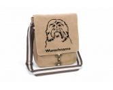 Socken mit TiermotivSocken mit HundemotivHavaneser 3 Canvas Schultertasche Tasche mit Hundemotiv und Namen