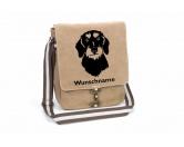 Socken mit TiermotivSocken mit HundemotivDackel Rauhaar Canvas Schultertasche Tasche mit Hundemotiv und Namen