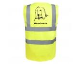 Bekleidung & AccessoiresHundesportwesten mit Hundemotiven inkl. Rückentasche MIL-TEC ®Afghane 2 - Hundesport Warnweste Sicherheitsweste mit Hundemotiv