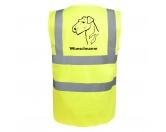Bekleidung & AccessoiresHundesportwesten mit Hundemotiven inkl. Rückentasche MIL-TEC ®Airedale Terrier - Hundesport Warnweste Sicherheitsweste mit Hundemotiv