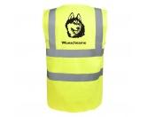 Schmuck & AccessoiresHunderassen-Broschen vergoldetAlaskan Malamute - Hundesport Warnweste Sicherheitsweste mit Hundemotiv