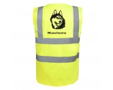 Aufkleber & TafelnHund Inside Auto AufkleberAlaskan Malamute - Hundesport Warnweste Sicherheitsweste mit Hundemotiv