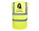 Bekleidung & AccessoiresHundesportwesten mit Hundemotiven inkl. Rückentasche MIL-TEC ®Basset Hound 3 - Hundesport Warnweste Sicherheitsweste mit Hundemotiv