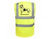 Aufkleber & TafelnHund Inside Auto AufkleberBasset Hound 6 - Hundesport Warnweste Sicherheitsweste mit Hundemotiv