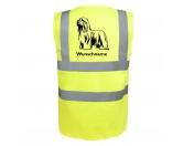 Aufkleber & TafelnHund Inside Auto AufkleberBearded Collie - Hundesport Warnweste Sicherheitsweste mit Hundemotiv