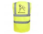 Tierische-FigurenVersilberte Hunde-FigurenBedlington Terrier 2- Hundesport Warnweste Sicherheitsweste mit Hundemotiv