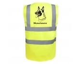 Bekleidung & AccessoiresHundesportwesten mit Hundemotiven inkl. Rückentasche MIL-TEC ®Belgischer Schäferhund 2 - Hundesport Warnweste Sicherheitsweste mit Hundemotiv