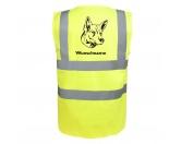Für TiereHundemotiv - HandtücherBerger Blanc Suisse Weißer Schäferhund - Hundesport Warnweste Sicherheitsweste mit Hundemotiv