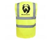 Selbstklebende KreidetafelnHundeBobtail - Hundesport Warnweste Sicherheitsweste mit Hundemotiv