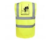 Für MenschenAuto-SonnenschutzBorder Collie Flyball - Hundesport Warnweste Sicherheitsweste mit Hundemotiv