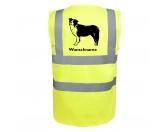 Aufkleber & TafelnBorder Collie 3 - Hundesport Warnweste Sicherheitsweste mit Hundemotiv
