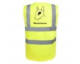 Aufkleber & TafelnBullterrier 2 - Hundesport Warnweste Sicherheitsweste mit Hundemotiv