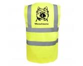 Aufkleber & TafelnCairn Terrier - Hundesport Warnweste Sicherheitsweste mit Hundemotiv