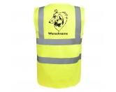 Taschen & RucksäckeBaumwolltaschenCollie 3 - Hundesport Warnweste Sicherheitsweste mit Hundemotiv