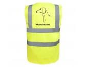 Socken mit TiermotivSocken mit HundemotivDackel - Hundesport Warnweste Sicherheitsweste mit Hundemotiv