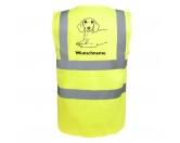 Aufkleber & TafelnHund Inside Auto AufkleberDackel 2 - Hundesport Warnweste Sicherheitsweste mit Hundemotiv