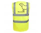 Für MenschenNostalgische GeschenkartikelDackel 3 - Hundesport Warnweste Sicherheitsweste mit Hundemotiv