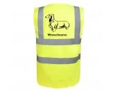 Bekleidung & AccessoiresHundesportwesten mit Hundemotiven inkl. Rückentasche MIL-TEC ®Dackel Langhaar - Hundesport Warnweste Sicherheitsweste mit Hundemotiv