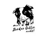 Aufkleber & TafelnWandtattoo -Border Collie- Einzelstück schwarz 30 x 40 cm