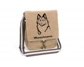 Bekleidung & AccessoiresHundesportwesten mit Hundemotiven inkl. Rückentasche MIL-TEC ®Altdeutscher Schäferhund Canvas Schultertasche Tasche mit Hundemotiv und Namen