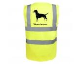 Leben & WohnenTeelichthalterDeutscher Pinscher - Hundesport Warnweste Sicherheitsweste mit Hundemotiv