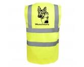 Selbstklebende KreidetafelnHundeDeutscher Schäferhund 2 - Hundesport Warnweste Sicherheitsweste mit Hundemotiv