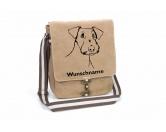 Warnwesten & SicherheitswestenWarnwesten mit Hunderasse MotivenAiredale Terrier 3 Canvas Schultertasche Tasche mit Hundemotiv und Namen