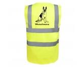 Bekleidung & AccessoiresHundesportwesten mit Hundemotiven inkl. Rückentasche MIL-TEC ®Deutscher Schäferhund 5 - Hundesport Warnweste Sicherheitsweste mit Hundemotiv
