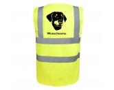 Selbstklebende KreidetafelnHundeDobermann - Hundesport Warnweste Sicherheitsweste mit Hundemotiv
