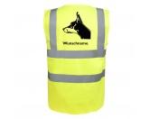 Bekleidung & AccessoiresHundesportwesten mit Hundemotiven inkl. Rückentasche MIL-TEC ®Dobermann 4 - Hundesport Warnweste Sicherheitsweste mit Hundemotiv
