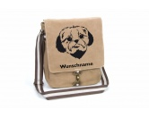 DuftbäumeHundemotiv DuftbäumeShih Tzu Canvas Schultertasche Tasche mit Hundemotiv und Namen