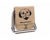 Für MenschenWeihnachtsmarktShih Tzu Canvas Schultertasche Tasche mit Hundemotiv und Namen
